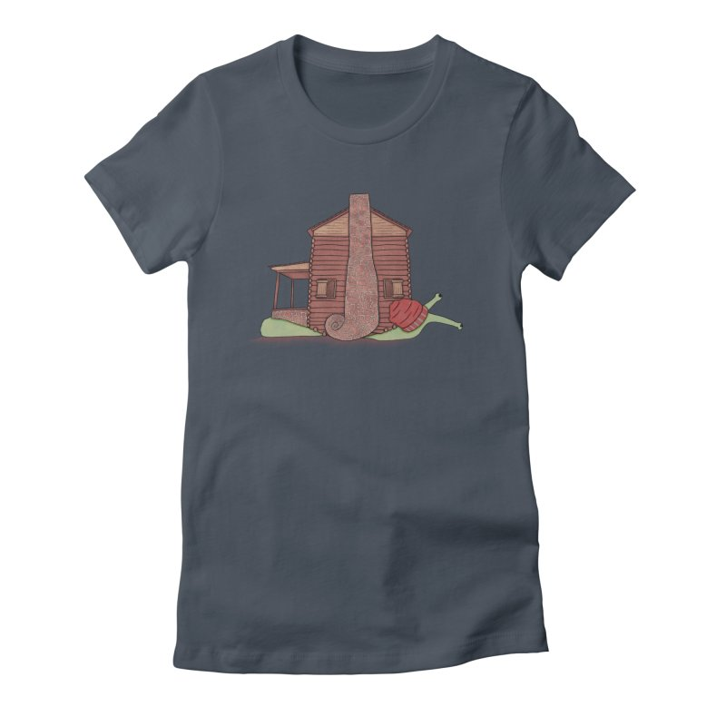 Cabin Snail Women's T-Shirt by The Art of Rosemary