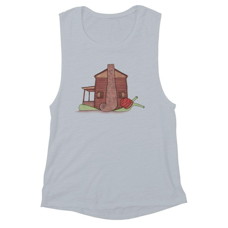 Cabin Snail Women's Muscle Tank by The Art of Rosemary