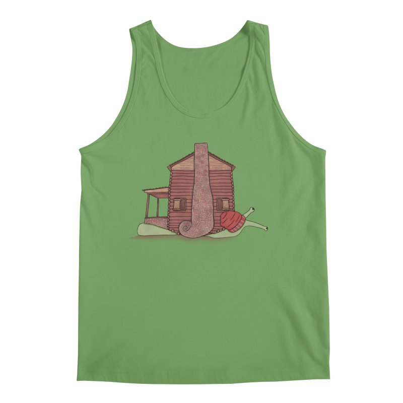 Cabin Snail Men's Tank by The Art of Rosemary