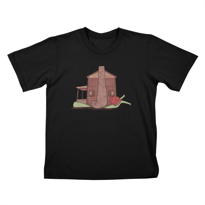 Cabin Snail Kids T-Shirt by The Art of Rosemary