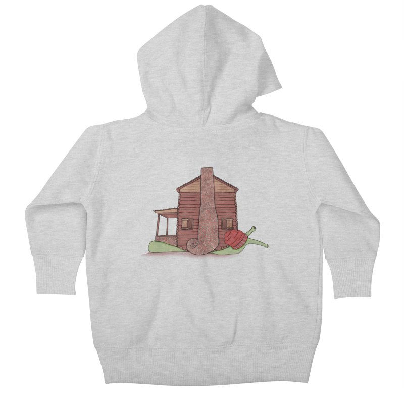 Cabin Snail Kids Baby Zip-Up Hoody by The Art of Rosemary