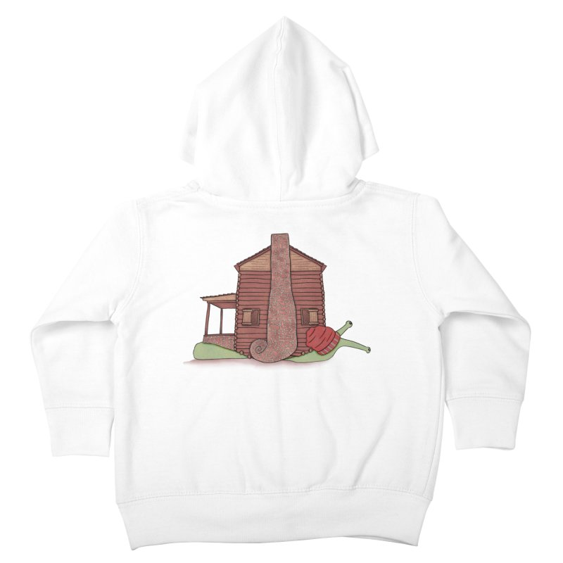 Cabin Snail Kids Toddler Zip-Up Hoody by The Art of Rosemary