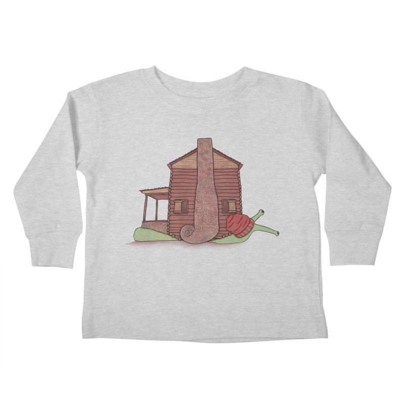 Cabin Snail Kids Toddler Longsleeve T-Shirt by The Art of Rosemary