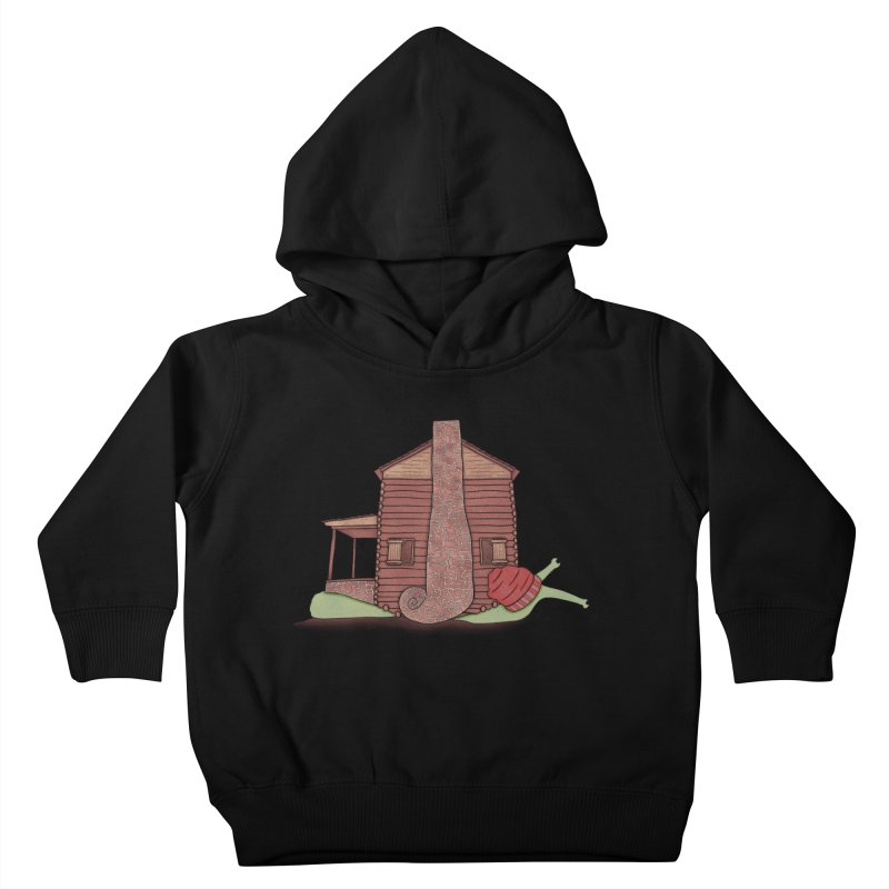Cabin Snail Kids Toddler Pullover Hoody by The Art of Rosemary