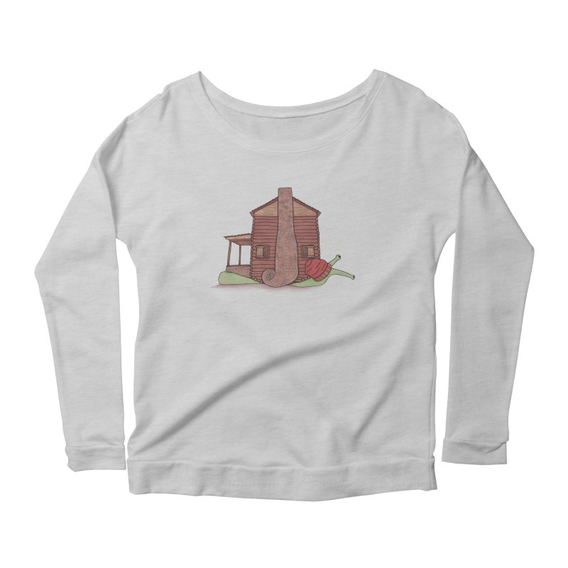 Cabin Snail Women's Scoop Neck Longsleeve T-Shirt by The Art of Rosemary