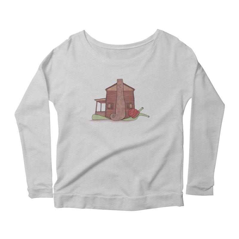 Cabin Snail Women's Scoop Neck Longsleeve T-Shirt by The Art of Rosemary