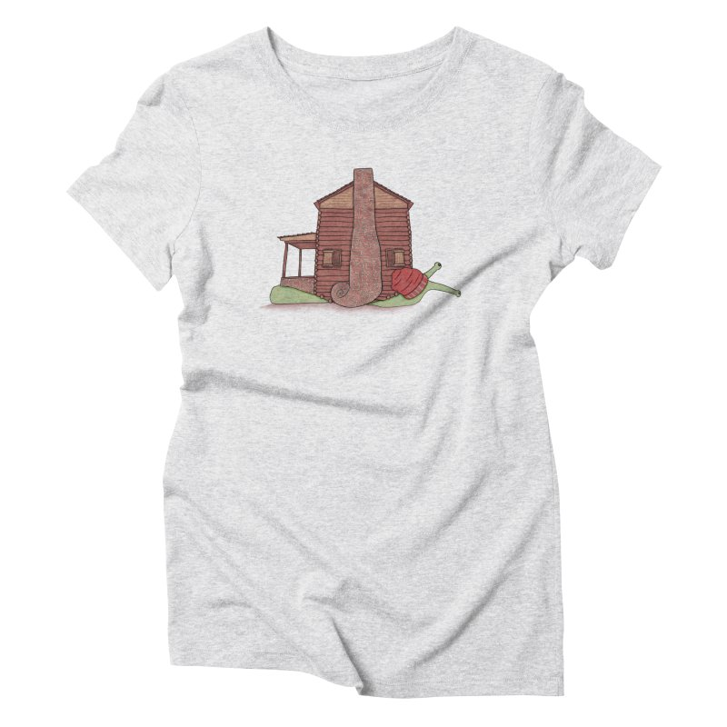 Cabin Snail Women's Triblend T-Shirt by The Art of Rosemary