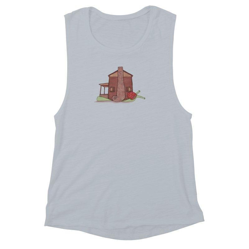 Cabin Snail Women's Muscle Tank by The Art of Rosemary