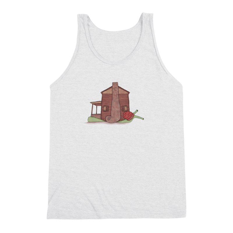 Cabin Snail Men's Triblend Tank by The Art of Rosemary