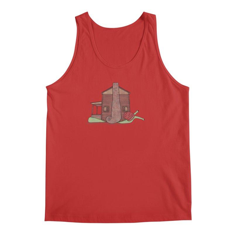 Cabin Snail Men's Regular Tank by The Art of Rosemary