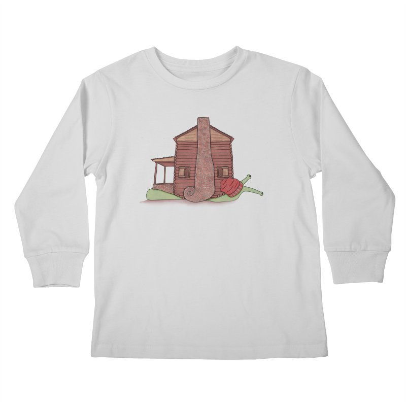 Cabin Snail Kids Longsleeve T-Shirt by The Art of Rosemary