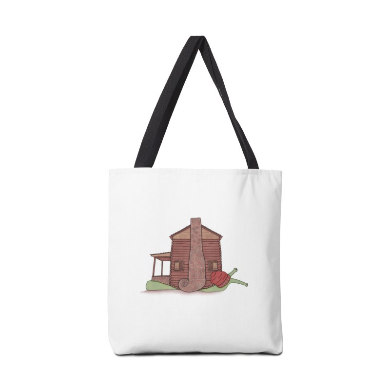 Cabin Snail Accessories Tote Bag Bag by The Art of Rosemary