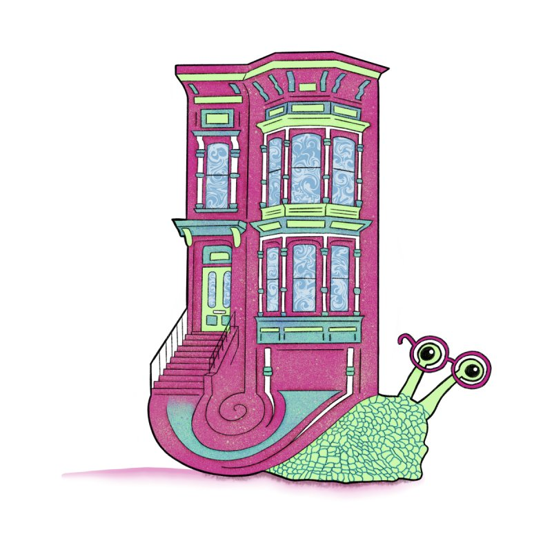 Townhouse Snail by The Art of Rosemary