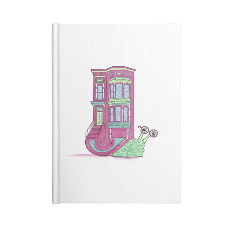 Townhouse Snail Accessories Blank Journal Notebook by The Art of Rosemary