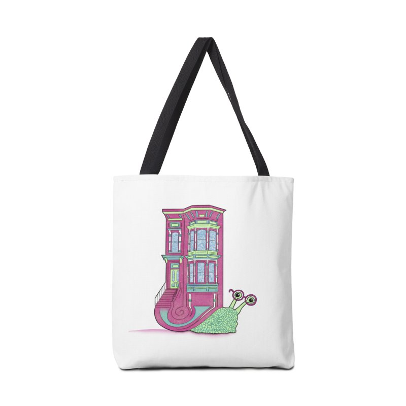 Townhouse Snail Accessories Tote Bag Bag by The Art of Rosemary