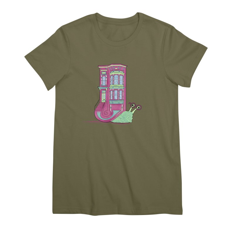 Townhouse Snail Women's Premium T-Shirt by The Art of Rosemary
