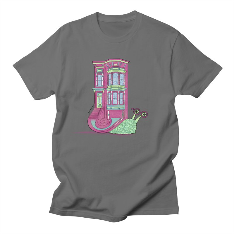 Townhouse Snail Men's T-Shirt by The Art of Rosemary