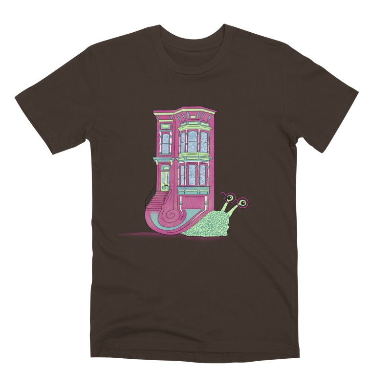 Townhouse Snail Men's Premium T-Shirt by The Art of Rosemary