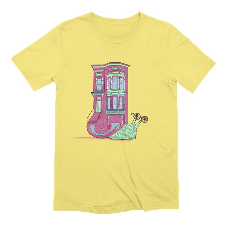 Townhouse Snail Men's Extra Soft T-Shirt by The Art of Rosemary