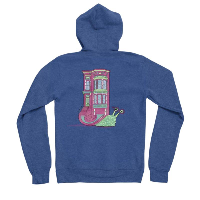 Townhouse Snail Men's Sponge Fleece Zip-Up Hoody by The Art of Rosemary