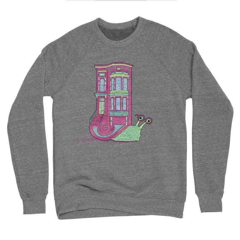 Townhouse Snail Men's Sponge Fleece Sweatshirt by The Art of Rosemary