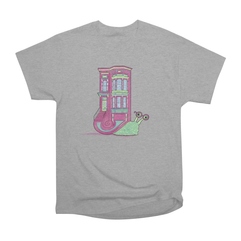 Townhouse Snail Men's Heavyweight T-Shirt by The Art of Rosemary