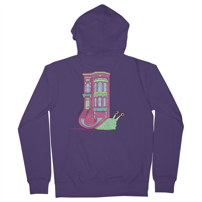 Townhouse Snail Women's French Terry Zip-Up Hoody by The Art of Rosemary