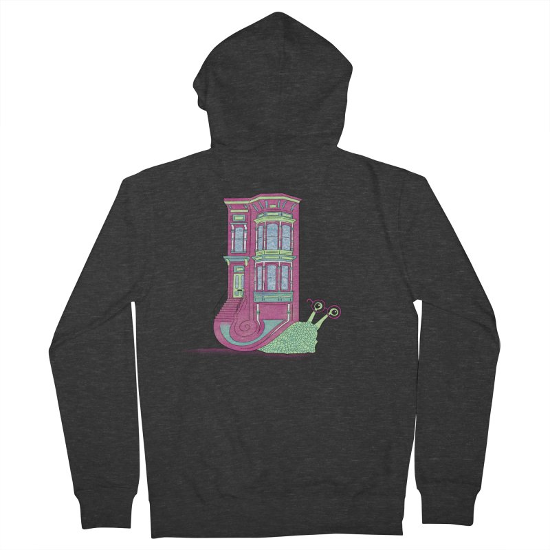 Townhouse Snail Men's French Terry Zip-Up Hoody by The Art of Rosemary