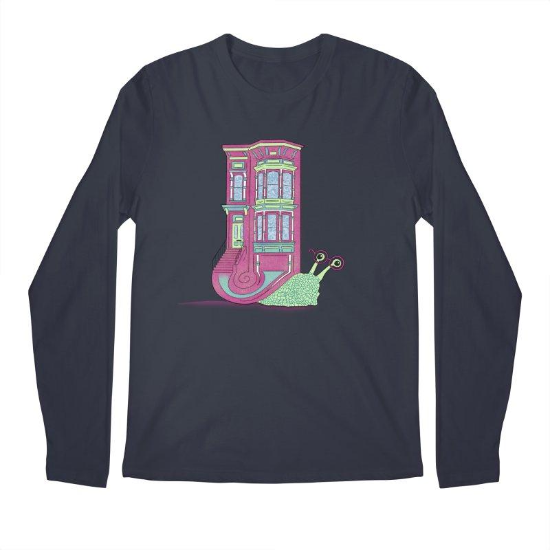Townhouse Snail Men's Regular Longsleeve T-Shirt by The Art of Rosemary