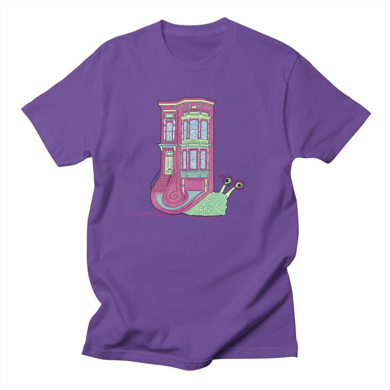 Townhouse Snail Men's Regular T-Shirt by The Art of Rosemary