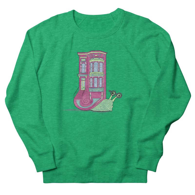 Townhouse Snail Women's French Terry Sweatshirt by The Art of Rosemary