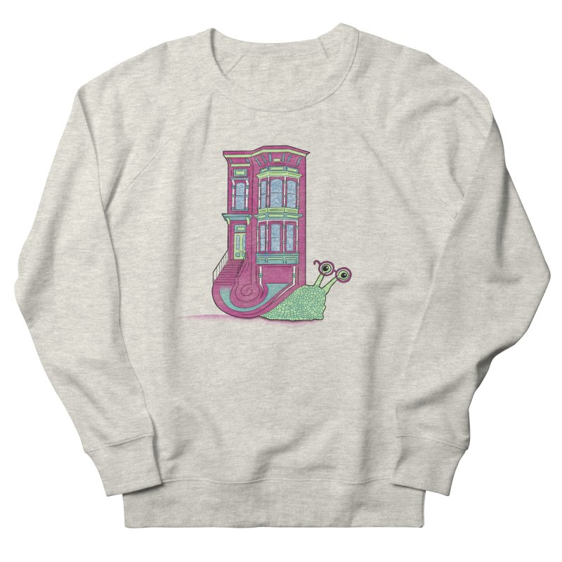 Townhouse Snail Men's French Terry Sweatshirt by The Art of Rosemary