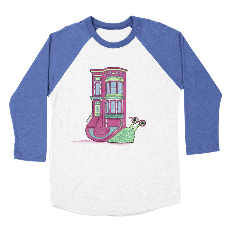 Townhouse Snail Women's Baseball Triblend Longsleeve T-Shirt by The Art of Rosemary