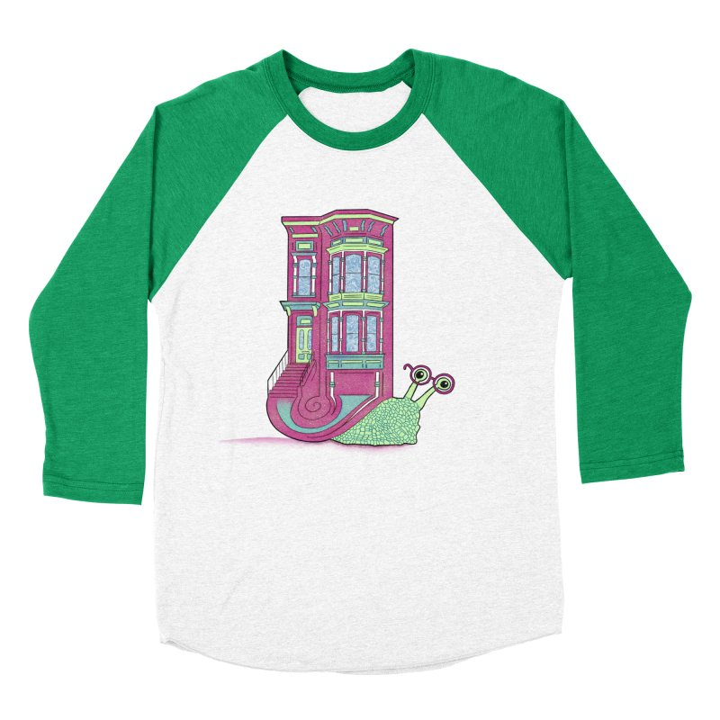 Townhouse Snail Women's Baseball Triblend Longsleeve T-Shirt by The Art of Rosemary