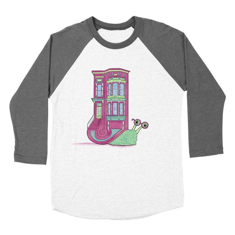 Townhouse Snail Men's Baseball Triblend Longsleeve T-Shirt by The Art of Rosemary