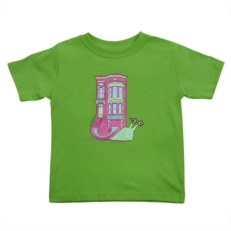 Townhouse Snail Kids Toddler T-Shirt by The Art of Rosemary
