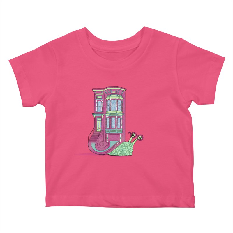 Townhouse Snail Kids Baby T-Shirt by The Art of Rosemary
