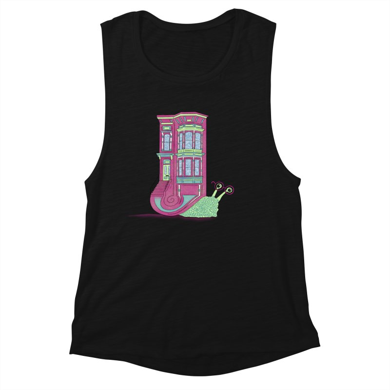 Townhouse Snail Women's Tank by The Art of Rosemary