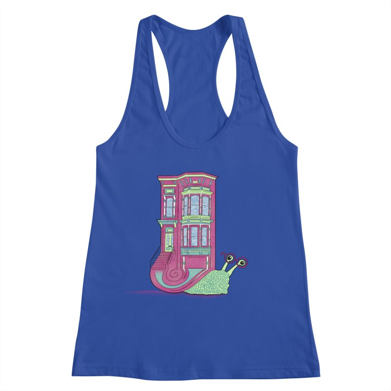Townhouse Snail Women's Racerback Tank by The Art of Rosemary