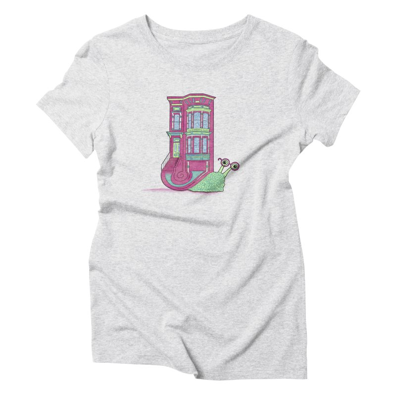 Townhouse Snail Women's T-Shirt by The Art of Rosemary