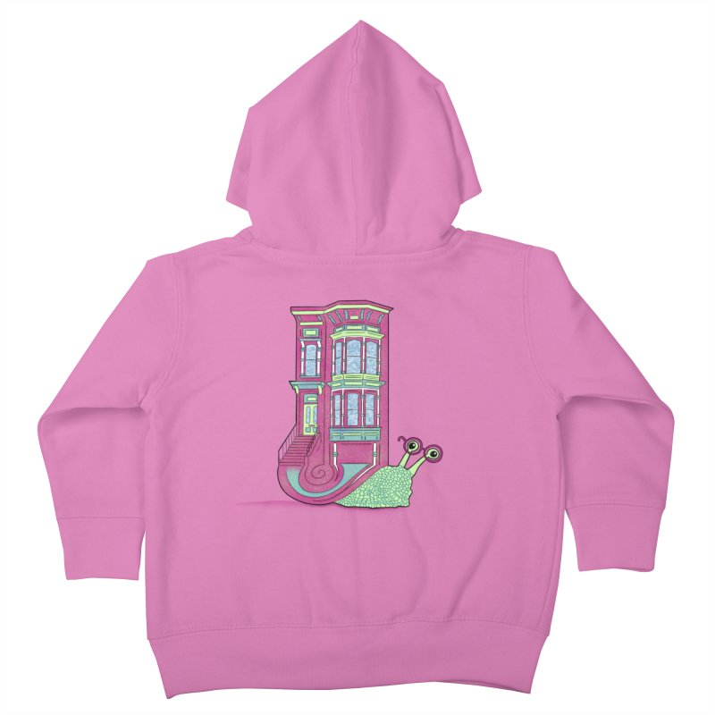 Townhouse Snail Kids Toddler Zip-Up Hoody by The Art of Rosemary