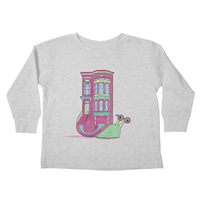 Townhouse Snail Kids Toddler Longsleeve T-Shirt by The Art of Rosemary