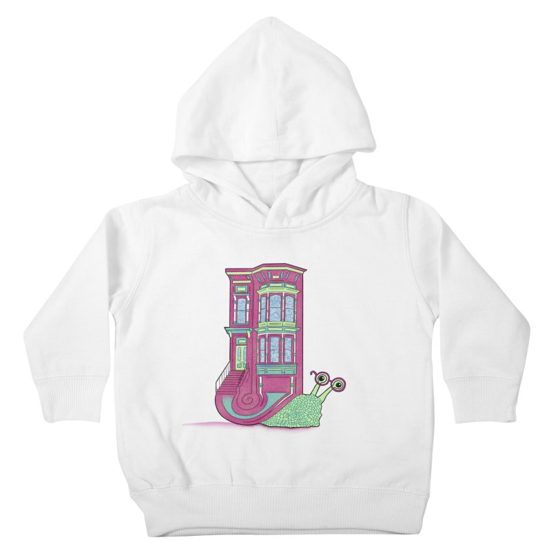 Townhouse Snail Kids Toddler Pullover Hoody by The Art of Rosemary