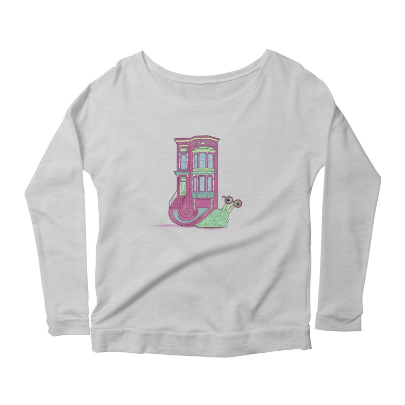 Townhouse Snail Women's Scoop Neck Longsleeve T-Shirt by The Art of Rosemary
