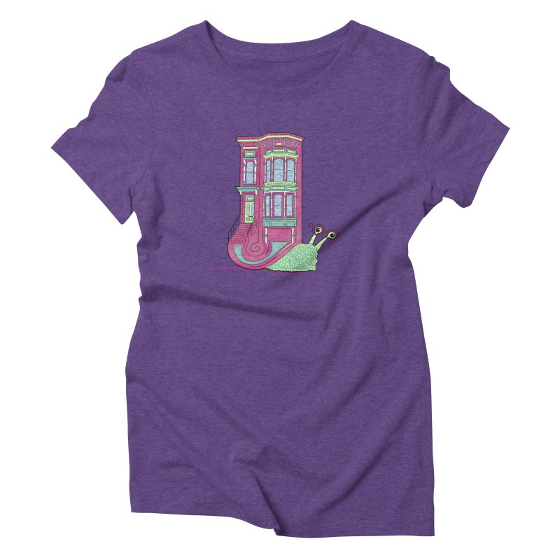 Townhouse Snail Women's Triblend T-Shirt by The Art of Rosemary