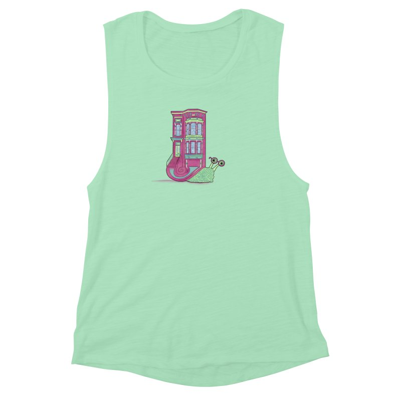 Townhouse Snail Women's Muscle Tank by The Art of Rosemary