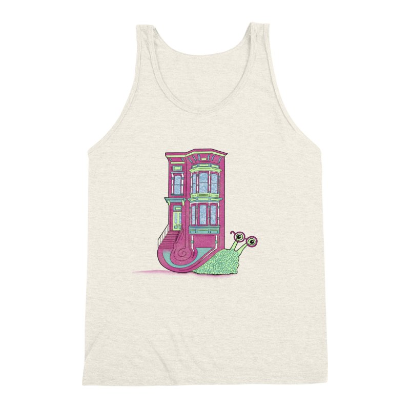 Townhouse Snail Men's Triblend Tank by The Art of Rosemary