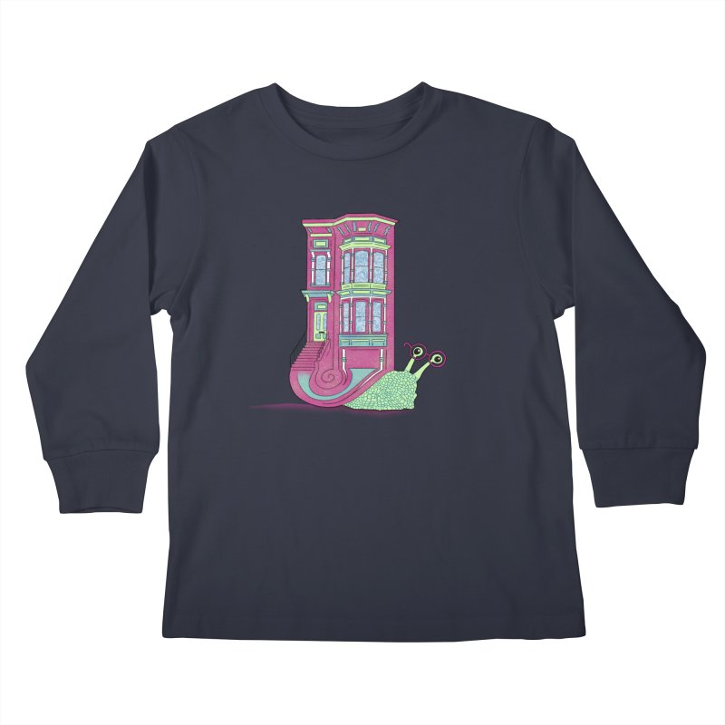 Townhouse Snail Kids Longsleeve T-Shirt by The Art of Rosemary