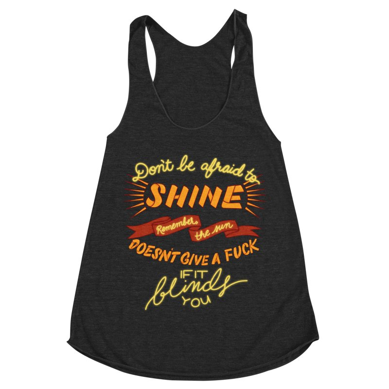 Shine Women's Racerback Triblend Tank by The Art of Rosemary