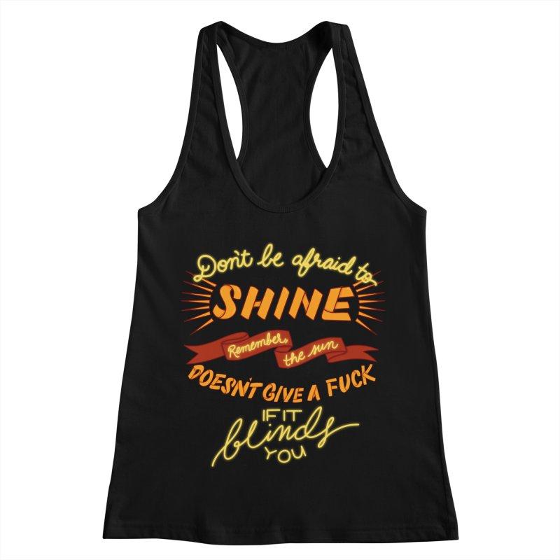 Shine Women's Racerback Tank by The Art of Rosemary